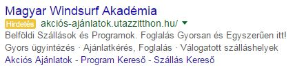 magyar windsurf akadémia szörf ad